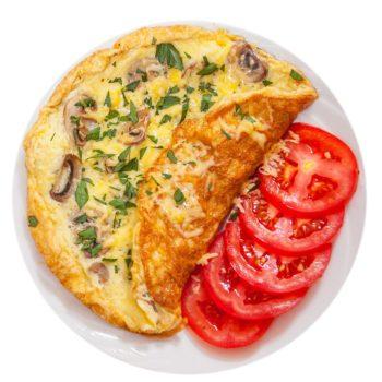 omelett champinjon för viktminsking