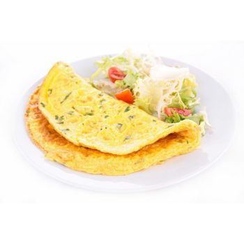 Omelett vitlök för viktminskning