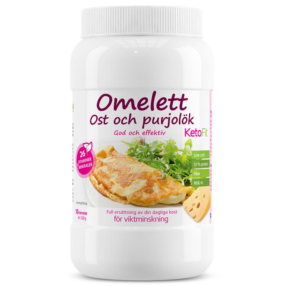 Proteinomelett Ost & Purjolök för viktnedgång