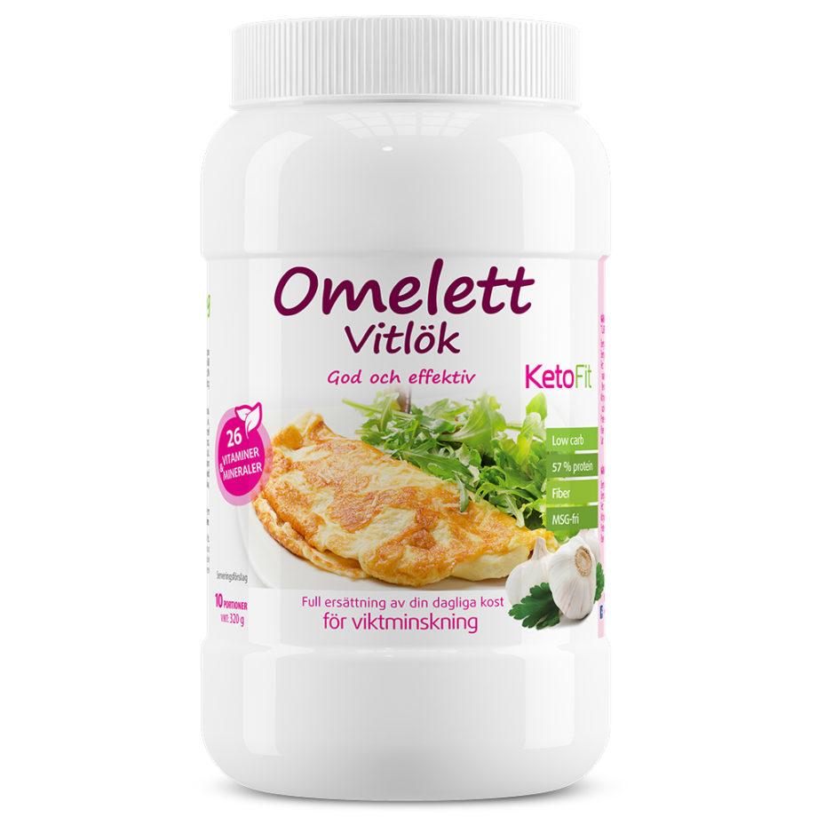 Proteinomelett Vitlök för att gå ner i vikt