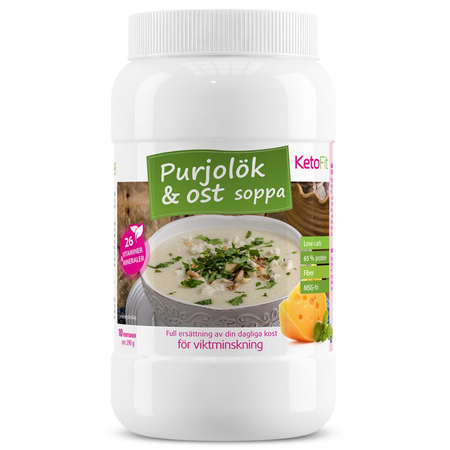 Proteinsoppa Purjolök Ost för viktminskning